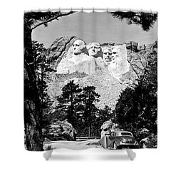 Mt Rushmore Shower Curtain