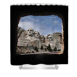 Shower Curtain featuring the photograph Mt Rushmore Tunnel by David Lawson