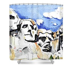 Mt. Rushmore, Usa Shower Curtain by Terry Banderas