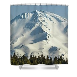 Shower Curtain featuring the photograph Mt Shasta In Early Morning Light by Marc Crumpler