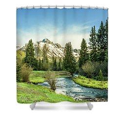 Mt. Sneffels Peak Shower Curtain