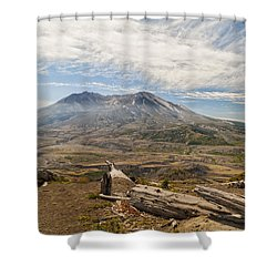 Mt St Helens Shower Curtain by Brian Harig