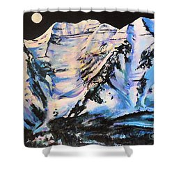 Mt. Timpanogos Under A Full Moon Shower Curtain