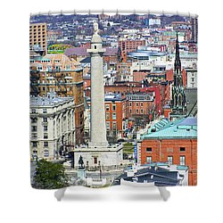 Mt Vernon - Baltimore Shower Curtain by Brian Wallace