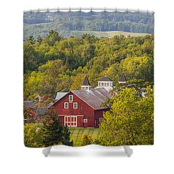 Mt View Farm In Summer Shower Curtain