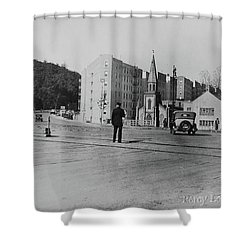 Shower Curtain featuring the photograph Mt. Washington Church  by Cole Thompson