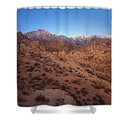 Mt. Whitney Dawning Light Shower Curtain