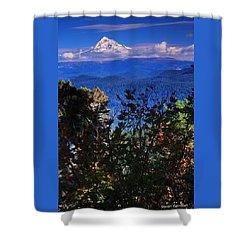 Mt.hood N Fall Shower Curtain by Steve Warnstaff