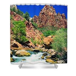 Mt.moroni / Virgin River Shower Curtain