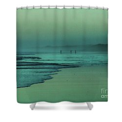 Muawai Sunset Shower Curtain