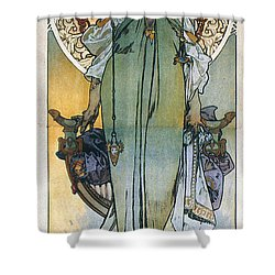 Mucha: Theatrical Poster Shower Curtain by Granger
