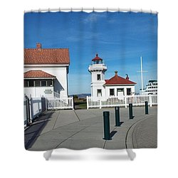 Muckilteo Lighthouse Shower Curtain