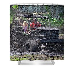 Mud Bogging Shower Curtain