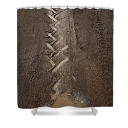 Shower Curtain featuring the photograph Mud Escape by Stephen Mitchell