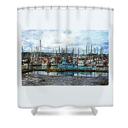 Mud Flats Shower Curtain