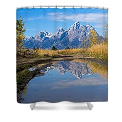 Mud Puddle Reflection Shower Curtain