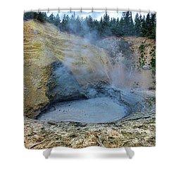 Mud Volcano Yellowstone 2 Shower Curtain