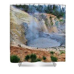 Mud Volcano Yellowstone Shower Curtain