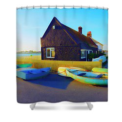 Muddage  Rowers Shower Curtain by Jan W Faul