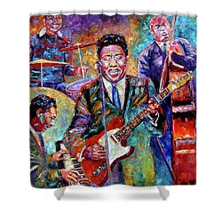 Muddy Waters And His Band Shower Curtain by Debra Hurd