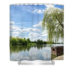 Muenster Aasee Shower Curtain