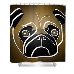 Mug Of A Pug Shower Curtain by Stephen Younts