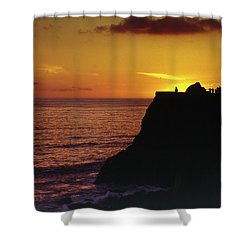 Shower Curtain featuring the photograph Mugu Rock Sunset by Samuel M Purvis III