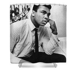 Muhammad Ali (1942- ) Shower Curtain by Granger
