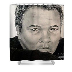 Muhammad Ali Formerly Known As Cassius Clay Shower Curtain by Jim Fitzpatrick