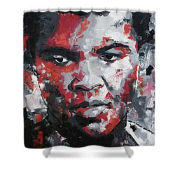 Shower Curtain featuring the painting Muhammad Ali II by Richard Day
