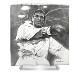 Young Cassius Clay Shower Curtain by Noe Peralez