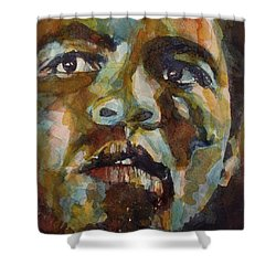 Muhammad Ali   Shower Curtain by Paul Lovering