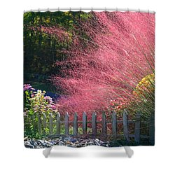 Shower Curtain featuring the photograph Muhly Grass by Kathryn Meyer
