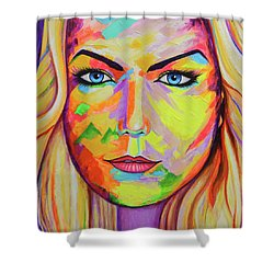 Mujer Shower Curtain by Angel Ortiz