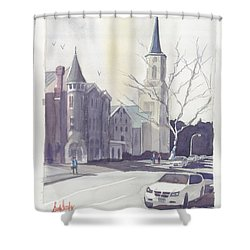 Mulberry Street Scene Shower Curtain by Scott Serafy
