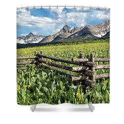 Mule's Ears And Mountains Shower Curtain