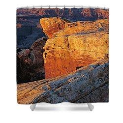 Muley Point Sunrise-v Shower Curtain