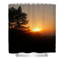 Mulholland Sunset And Silhouette Shower Curtain