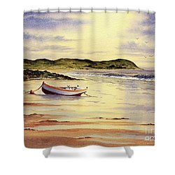 Shower Curtain featuring the painting Mull Of Kintyre Scotland by Bill Holkham