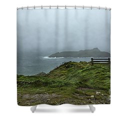 Shower Curtain featuring the photograph Mullion Cove by Brian Roscorla