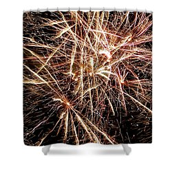 Shower Curtain featuring the photograph Multi Blast Fireworks #0721 by Barbara Tristan