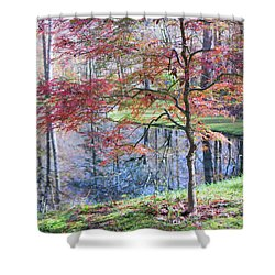 Multi Color Japanese Maple Shower Curtain