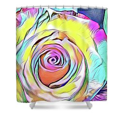 Multi-colored Rose Shower Curtain