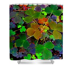 Multi-coloured Leaves Shower Curtain
