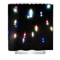Multi Colored Lights Shower Curtain