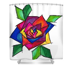 Multi Rose Shower Curtain