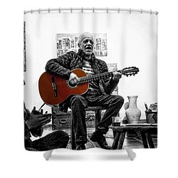 Multi-talented Artist Shower Curtain by Al Bourassa