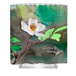 Multiflora Rosa Shower Curtain