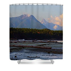 Multileval Photography In One Land Water Trees Mountain Clouds Skyview Olympic National Park America Shower Curtain