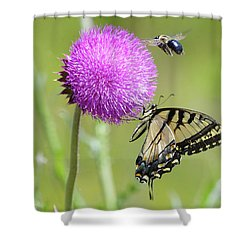 Multiple Visitors Shower Curtain
